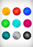 Colorful sticker collection Royalty Free Stock Photography