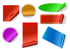 Colorful sticker set Royalty Free Stock Photo