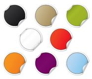 Colorful Sticker Set Royalty Free Stock Photography