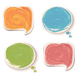 Colorful sticker speech bubbles. Vector Royalty Free Stock Photos