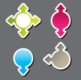 Colorful  sticker . Vector illustration Royalty Free Stock Images
