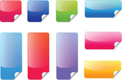 Colorful sticker vector. Colorful sticker label icon set vector Royalty Free Stock Photos