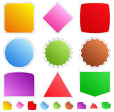 Colorful stickers Stock Images