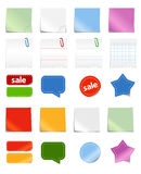 Colorful stickers. Different paper stickers vector collection Royalty Free Stock Photo