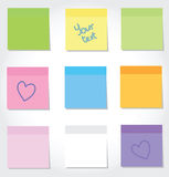 Colorful stickers. Set of different colorful stickers Stock Photos