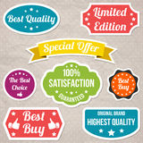 Colorful stickers collection Stock Images