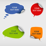 Colorful stickers dialog bubble template Royalty Free Stock Image