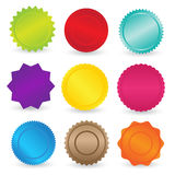 Colorful Stickers and Labels Element Royalty Free Stock Photo