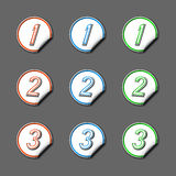 Colorful stickers with numbers Stock Photos