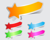 Colorful stickers papers stars Royalty Free Stock Image
