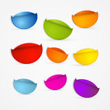 Colorful Stickers Set Stock Photography
