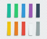 Colorful Stickers set isolated on transparent background. Stickers. Paper stickers tape with shadow. Vector colorful stickers for Royalty Free Stock Images