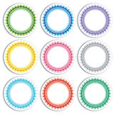 Colorful stickers on white background Stock Photography