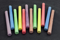 Colorful sticks of chalk Royalty Free Stock Images
