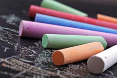 Colorful sticks of chalk Royalty Free Stock Photography