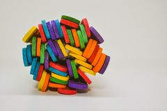 Colorful Sticks with white background stock photography