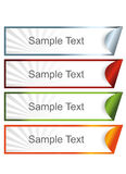 Colorful sticky banners Stock Images