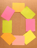 Colorful sticky note Royalty Free Stock Image
