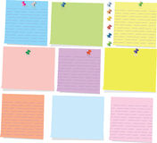 Colorful sticky note Stock Photos