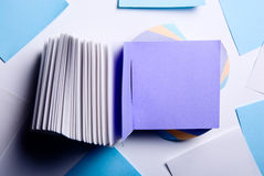 Colorful sticky note. Paper records. Purple sheet of paper Stock Image