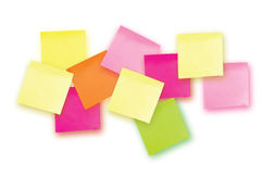 10 Colorful sticky note. Template for your projects. Ten Sticker Stock Image