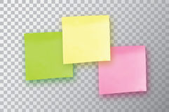 3 Colorful sticky note. Template for your projects. Three Sticker Royalty Free Stock Photography