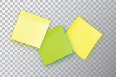 3 Colorful sticky note. Template for your projects. Three Sticker Stock Image