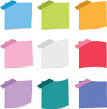 Colorful sticky notepaper Royalty Free Stock Photo
