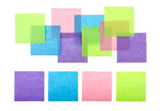 Colorful sticky notes. Isolated on white Royalty Free Stock Photos