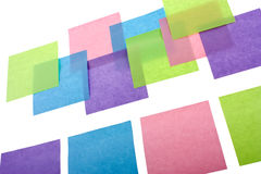 Colorful sticky notes. On white background Royalty Free Stock Image