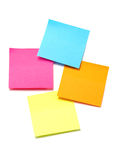 Colorful Sticky Notes. Pink, orange, blue and yellow sticky notes Royalty Free Stock Images