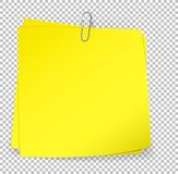 Colorful sticky notes attached with metallic paper clip  Stock Images