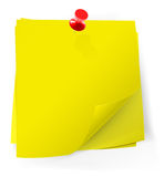 Colorful sticky notes attached with red pin Stock Photography