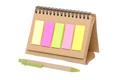 Colorful Sticky Notes on Blank Notebook. Stock Photography