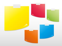 Colorful Sticky Notes Stock Photography