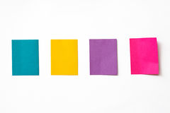 Colorful sticky notes Royalty Free Stock Image