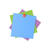 Colorful sticky notes. On white background Royalty Free Stock Images