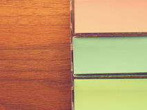 Colorful sticky notes Stock Photos