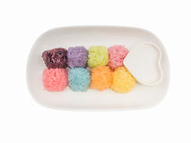 Colorful Sticky Rice ball shape Royalty Free Stock Images