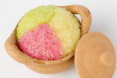 Colorful sticky rice Stock Images