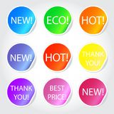 Colorful sticky web icons. Set of colorful sticky web icons Stock Photo