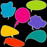 Colorful stitched speech bubbles Stock Photo