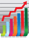 Colorful stock chart Stock Image