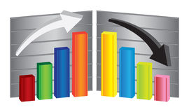 Colorful stock charts Royalty Free Stock Photography