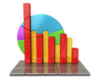 Colorful stock market chart Stock Photo