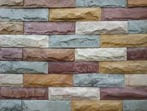 Colorful stone block Stock Images