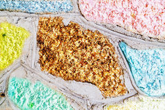 Colorful stone block wall Stock Images