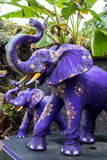 Colorful stone elephant statue on a tropical Bali island, Indonesia. royalty free stock photography