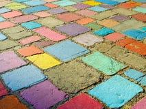 Colorful Stone Floor Stock Photo