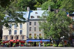 Stone Houses in Basse-Ville, Quebec City Royalty Free Stock Image